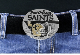 "<Br>          OFFICIALLY LICENSED NFL!!<Br>W17765BK - NEW ORLEANS ""SAINTS""<Br>                   LOGO BELT BUCKLE<BR>           YOUR LOW PRICE IS $13.50"