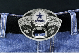"<Br>            OFFICIALLY LICENSED NFL!!<Br> W18593BK - DALLAS COWBOYS ""OFFICIAL <Br>TAILGATER"" BELT BUCKLE WITH BOTTLE <Br>     OPENER YOUR LOW PRICE IS $15.85"