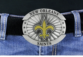 "<Br>                 OFFICIALLY LICENSED NFL!!<Br> W18937BK - NEW ORLEANS  ""SAINTS"" LOGO <Br>       BELT BUCKLE YOUR LOW PRICE IS $15.85"