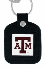 <BR>               OFFICIALLY  LICENSED!!<Br>W14928KC - TEXAS A&M UNIVERSITY<Br>    AGGIES GENUINE BLACK LEATHER<Br>FRAMED KEY CHAIN AS LOW AS $3.99
