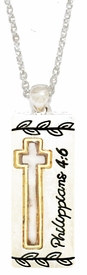 "<BR>          Phillippians 4:6 ""Don't Worry About Anything; Instead Pray About<BR> Everything. Tell God What You Need.."", Pendent Necklace, Hypoallergenic,<BR>              Safe- No Nickel, Lead, Or Poisonous Cadmium. $ 9.78  To $ 12.3   <BR>                                                               W29438N12"