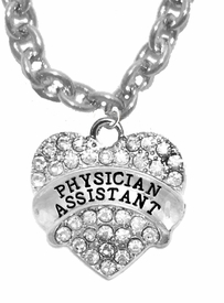 <BR>            PHYSICIANS ASSISTANT, GENUINE CRYSTAL HEART<br>             CABLE CHAIN NECKLACE, SAFE-HYPOALLERGENIC, <BR>NICKEL, LEAD, CADMIUM FREE, FROM $ 7.38 TO $10.38 �2016   <BR>                                                            W1771N1