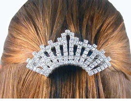 S1178HJ - BEAUTIFUL SWAROVSKI<BR>        CRYSTAL BARRETTE FROM<bR>                  $24.75 TO $55.00