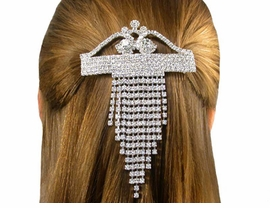 S1203HJ - ATTRACTIVE SWAROVSKI<BR>    CRYSTAL HAIR BARRETTE FROM<BR>                   $30.40 TO $67.50