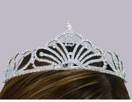 <br> S1681T-NEW! SWAROVSKI<br>     CRYSTAL QUINCENEARA <br>TIARA FROM $24.75 TO $55.00
