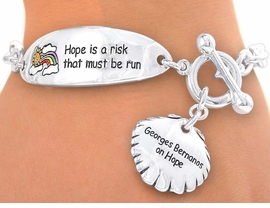 "<br>  S2642B - ""HOPE IS A RISK...""<BR>MOTIVATIONAL TOGGLE CHARM<br>BRACELET FROM $3.35 TO $7.50"