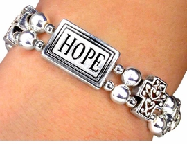 S550B-NEW! FAITH, HOPE,<BR>LOVE, STRETCH BRACELET<BR>YOUR LOW PRICE IS $6.19