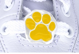 <Br>           US PATENT PENDING<Br>           EXCLUSIVELY OURS!!<Br>      AN ALLAN ROBIN DESIGN!<BR>          LEAD & NICKEL FREE!!<Br>W13267C - YELLOW PAW PRINT<Br>      2-PIECE SHOE CHARM SET<Br>               AS LOW AS $3.10