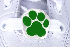 <Br>          US PATENT PENDING<Br>          EXCLUSIVELY OURS!!<Br>     AN ALLAN ROBIN DESIGN!<BR>         LEAD & NICKEL FREE!!<Br>W13268C - GREEN PAW PRINT<Br>   2-PIECE SHOE CHARM SET<BR>               AS LOW AS $3.10
