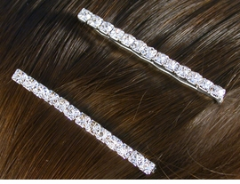 W10316HJ - GENUINE AUSTRIAN<br>   CRYSTAL 2-PIECE BOBBY PIN<bR>       SET FROM $2.25 TO $5.00