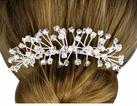 W10580HJ - AUSTRIAN CRYSTAL<BR>        STARBURST HAIR COMB<BR>         FROM $9.00 TO $20.00