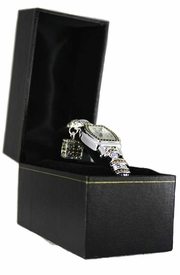 W11189JB - BLACK WATCH/BRACELET<Br>       JEWELRY BOX WITH GOLD TRIM<Br>                      AS LOW AS $2.55