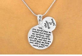 "W11609N - ""THE PRAYER OF JABEZ""<bR>    DOUBLE-DISC DROP NECKLACE<BR>              FROM $3.94 TO $8.75"