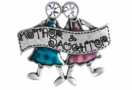 "W11698P - GENUINE AUSTRIAN CRYSTAL<br>            ""MOTHER & DAUGHTER"" PIN<bR>                          AS LOW AS $3.05"