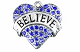 "W1210SC - BLUE CRYSTAL ""BELIEVE"" HEART<BR><FONT size=""2"">Buy 1-2 for $4.25 Each<br>Buy 3-5 for $4.15 Each<br>Buy 6-11 for $3.65 Each<br>Buy 12-23 for $3.45 Each<br>Buy 24-49 for $3.25 Each<br>Buy 50 or More for $3.09 Each</font>"