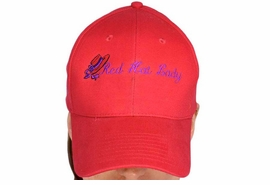 "W12641HA - 100% COTTON<BR>  RED HIGH THREAD COUNT<BR>       ""RED HAT LADY"" HAT<Br>            AS LOW AS $5.45"