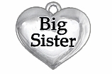"W1297SC - ""BIG SISTER""  HEART<BR> <FONT size=""2"">Buy 1-2 for $4.05 Each<br>Buy 3-5 for $3.65 Each<br>Buy 6-11 for $3.55 Each<br>Buy 12-23 for $3.45 Each<br>Buy 24-49 for $3.35 Each<br>Buy 50 or More for $3.25 Each<br>Buy 100 or More for $2.35 Each</font>"