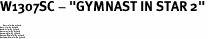 "W1307SC - ""GYMNAST IN STAR 2""<BR> <FONT size=""2"">Buy 1-2 for $4.05 Each<br>Buy 3-5 for $3.65 Each<br>Buy 6-11 for $3.55 Each<br>Buy 12-23 for $3.45 Each<br>Buy 24-49 for $3.35 Each<br>Buy 50 or More for $3.25 Each<br>Buy 100 or More for $2.35 Each</font>"