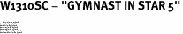 """W1310SC - """"GYMNAST IN STAR 5""""<BR> <FONT size=""""2"""">Buy 1-2 for $4.05 Each<br>Buy 3-5 for $3.65 Each<br>Buy 6-11 for $3.55 Each<br>Buy 12-23 for $3.45 Each<br>Buy 24-49 for $3.35 Each<br>Buy 50 or More for $3.25 Each<br>Buy 100 or More for $2.35 Each</font>"""