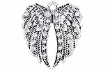 "W1342SC - CRYSTAL ANGEL WINGS <BR><FONT size=""2"">Buy 1-2 for $4.25 Each<br>Buy 3-5 for $4.15 Each<br>Buy 6-11 for $3.65 Each<br>Buy 12-23 for $3.45 Each<br>Buy 24-49 for $3.25 Each<br>Buy 50 or More for $3.09 Each</font>"