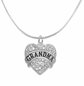 "<bR>                  EXCLUSIVELY OURS!!<Br>            AN ALLAN ROBIN DESIGN!!<BR>   CLICK HERE TO SEE 1000+ EXCITING<BR>      CHANGES THAT YOU CAN MAKE!<BR>     LEAD, NICKEL & CADMIUM FREE!!<BR>W1343SN3 - AUSTRIAN CRYSTAL ""GRANDMA"" <BR>HEART CHARM & SNAKE CHAIN NECKLACE <BR>         FROM $5.40 TO $9.85 �2012"