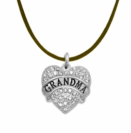"<bR>                  EXCLUSIVELY OURS!!<Br>            AN ALLAN ROBIN DESIGN!!<BR>   CLICK HERE TO SEE 1000+ EXCITING<BR>      CHANGES THAT YOU CAN MAKE!<BR>     LEAD, NICKEL & CADMIUM FREE!!<BR>W1343SN4 - AUSTRIAN CRYSTAL ""GRANDMA"" <BR>HEART CHARM & BROWN SUEDE NECKLACE <BR>         FROM $5.40 TO $9.85 �2012"