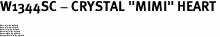"W1344SC - CRYSTAL ""MIMI"" HEART<BR><FONT size=""2"">Buy 1-2 for $4.25 Each<br>Buy 3-5 for $4.15 Each<br>Buy 6-11 for $3.65 Each<br>Buy 12-23 for $3.45 Each<br>Buy 24-49 for $3.25 Each<br>Buy 50 or More for $3.09 Each</font>"
