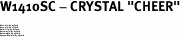 "W1410SC - CRYSTAL ""CHEER"" <BR><FONT size=""2"">Buy 1-2 for $4.25 Each<br>Buy 3-5 for $4.15 Each<br>Buy 6-11 for $3.65 Each<br>Buy 12-23 for $3.45 Each<br>Buy 24-49 for $3.25 Each<br>Buy 50 or More for $3.09 Each</font>"