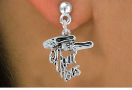 "<br>     WHOLESALE DANCE CHARM EARRINGS  <bR>                 EXCLUSIVELY OURS!!   <BR>            AN ALLAN ROBIN DESIGN!!   <BR>      CADMIUM, LEAD & NICKEL FREE!!   <BR>    W1413SE2 - DETAILED SILVER TONE   <Br>  ""ON YOUR TOES"" BALLET SHOES CHARM  <BR>    ON SURGICAL STEEL POST EARRINGS   <BR>          FROM $3.65 TO $8.40 �2015"