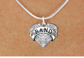 "<BR>      WHOLESALE BAND NECKLACE<bR>                   EXCLUSIVELY OURS!! <Br>              AN ALLAN ROBIN DESIGN!! <BR>     CLICK HERE TO SEE 1000+ EXCITING <BR>           CHANGES THAT YOU CAN MAKE! <BR>        LEAD, NICKEL & CADMIUM FREE!! <BR>    W1416SN - SILVER TONE ""BAND"" CLEAR <BR>     CRYSTAL HEART CHARM AND NECKLACE <BR>            FROM $5.40 TO $9.85 �2013"