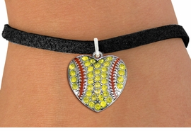 <BR>    WHOLESALE SPORTS FASHION JEWELRY <bR>                  EXCLUSIVELY OURS!! <Br>             AN ALLAN ROBIN DESIGN!! <BR>    CLICK HERE TO SEE 1000+ EXCITING <BR>          CHANGES THAT YOU CAN MAKE! <BR>       LEAD, NICKEL & CADMIUM FREE!! <BR>    W1519SB - SILVER TONE AND YELLOW <BR>   CRYSTAL SOFTBALL HEART CHARM AND <BR>  BRACELET FROM $5.40 TO $9.85 �2013
