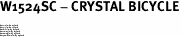 "W1524SC - CRYSTAL BICYCLE<BR><FONT size=""2"">Buy 1-2 for $4.25 Each<br>Buy 3-5 for $4.15 Each<br>Buy 6-11 for $3.65 Each<br>Buy 12-23 for $3.45 Each<br>Buy 24-49 for $3.25 Each<br>Buy 50 or More for $3.09 Each</font>"