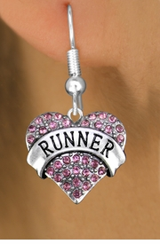 "<BR>  WHOLESALE FASHION HEART EARRINGS <bR>                 EXCLUSIVELY OURS!! <Br>            AN ALLAN ROBIN DESIGN!! <BR>      LEAD, NICKEL & CADMIUM FREE!! <BR>  W1526SE - ANTIQUED SILVER TONE AND <BR> PINK CRYSTAL ""RUNNER"" HEART CHARM <BR>    EARRINGS FROM $5.40 TO $10.45 �2013"
