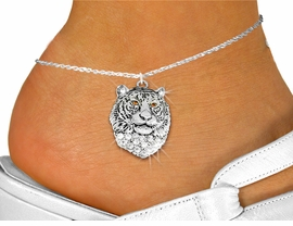 <bR>    WHOLESALE FASHION ANIMAL JEWELRY <BR>                   EXCLUSIVELY OURS!! <BR>              AN ALLAN ROBIN DESIGN!! <BR>        LEAD, NICKEL & CADMIUM FREE!! <BR>  W1534SAK - DETAILED SILVER TONE AND <BR> CLEAR AND TOPAZ CRYSTAL TIGER CHARM AND <Br>     ANKLET FROM $4.70 TO $9.35 �2013