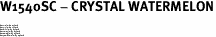 """W1540SC - CRYSTAL WATERMELON<BR><FONT size=""""2"""">Buy 1-2 for $4.25 Each<br>Buy 3-5 for $4.15 Each<br>Buy 6-11 for $3.65 Each<br>Buy 12-23 for $3.45 Each<br>Buy 24-49 for $3.25 Each<br>Buy 50 or More for $3.09 Each</font>"""