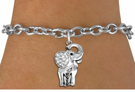 <BR>   WHOLESALE ANIMAL FASHION JEWELRY <bR>                 EXCLUSIVELY OURS!! <Br>            AN ALLAN ROBIN DESIGN!! <BR>   CLICK HERE TO SEE 1000+ EXCITING <BR>         CHANGES THAT YOU CAN MAKE! <BR>      LEAD, NICKEL & CADMIUM FREE!! <BR> W1541SB - ANTIQUED SILVER TONE AND <BR> CLEAR CRYSTAL ELEPHANT CHARM <BR> BRACELET FROM $5.40 TO $9.85 �2013