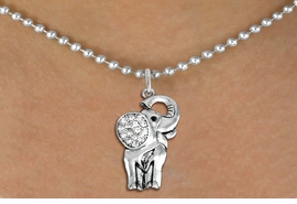 <BR>   WHOLESALE ANIMAL NECKLACE JEWELRY <bR>                   EXCLUSIVELY OURS!! <Br>              AN ALLAN ROBIN DESIGN!! <BR>     CLICK HERE TO SEE 1000+ EXCITING <BR>           CHANGES THAT YOU CAN MAKE! <BR>        LEAD, NICKEL & CADMIUM FREE!! <BR>   W1541SN - ANTIQUED SILVER TONE AND <BR>AUSTRIAN CLEAR CRYSTAL ELEPHANT CHARM  <BR>    NECKLACE FROM $5.40 TO $9.85 �2013