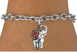 <BR>   WHOLESALE ANIMAL FASHION JEWELRY <bR>                 EXCLUSIVELY OURS!! <Br>            AN ALLAN ROBIN DESIGN!! <BR>   CLICK HERE TO SEE 1000+ EXCITING <BR>         CHANGES THAT YOU CAN MAKE! <BR>      LEAD, NICKEL & CADMIUM FREE!! <BR> W1543SB - ANTIQUED SILVER TONE AND <BR>   RED CRYSTAL ELEPHANT CHARM <BR> BRACELET FROM $5.40 TO $9.85 �2013