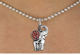 <BR>   WHOLESALE ANIMAL NECKLACE JEWELRY <bR>                   EXCLUSIVELY OURS!! <Br>              AN ALLAN ROBIN DESIGN!! <BR>     CLICK HERE TO SEE 1000+ EXCITING <BR>           CHANGES THAT YOU CAN MAKE! <BR>        LEAD, NICKEL & CADMIUM FREE!! <BR>   W1543SN - ANTIQUED SILVER TONE AND <BR> AUSTRIAN RED CRYSTAL ELEPHANT CHARM  <BR>    NECKLACE FROM $5.40 TO $9.85 �2013