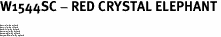 """W1544SC - RED CRYSTAL ELEPHANT<BR><FONT size=""""2"""">Buy 1-2 for $4.25 Each<br>Buy 3-5 for $4.15 Each<br>Buy 6-11 for $3.65 Each<br>Buy 12-23 for $3.45 Each<br>Buy 24-49 for $3.25 Each<br>Buy 50 or More for $3.09 Each</font>"""