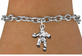 <br> WHOLESALE SPORTS FASHION BRACELET <bR>                    EXCLUSIVELY OURS!!<BR>               AN ALLAN ROBIN DESIGN!!<BR>      CLICK HERE TO SEE 1000+ EXCITING<BR>            CHANGES THAT YOU CAN MAKE!<BR>         CADMIUM, LEAD & NICKEL FREE!!<BR>     W1553SB - DETAILED 3D SILVER TONE <Br>TWO WRESTLER IN POSE CHARM & BRACELET <BR>             FROM $4.50 TO $8.35 �2014
