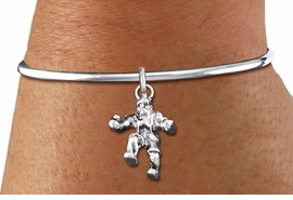<bR>    WHOLESALE FASHION CHARM BRACELET <BR>                     EXCLUSIVELY OURS!! <BR>                AN ALLAN ROBIN DESIGN!! <BR>          CADMIUM, LEAD & NICKEL FREE!! <BR>        W1553SB - DETAILED 3D SILVER TONE  <BR>WRESTLER IN POSE CHARM & SOLID WIRE <BR>      BRACELET FROM $4.40 TO $9.20 �2014