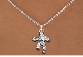 "<br>      WHOLESALE SPORTS FASHION JEWELRY <bR>                   EXCLUSIVELY OURS!! <BR>         AN ALLAN ROBIN DESIGN!! <BR>   CLICK HERE TO SEE 1000+ EXCITING <BR>      CHANGES THAT YOU CAN MAKE! <BR>        CADMIUM, LEAD & NICKEL FREE!! <BR>  W1553SN - DETAILED 3D SILVER TONE <BR> ""WRESTLER IN POSE"" CHARM & NECKLACE <BR>             FROM $4.85 TO $8.30 �2014"