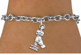 <br> WHOLESALE FASHION CHARM BRACELET <bR>                    EXCLUSIVELY OURS!!<BR>               AN ALLAN ROBIN DESIGN!!<BR>      CLICK HERE TO SEE 1000+ EXCITING<BR>            CHANGES THAT YOU CAN MAKE!<BR>         CADMIUM, LEAD & NICKEL FREE!!<BR>     W1556SB - DETAILED 3D SILVER TONE <Br>ACADEMY ACTING AWARD CHARM & BRACELET <BR>             FROM $4.50 TO $8.35 �2014