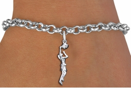 <br> WHOLESALE SPORTS CHARM BRACELET <bR>                    EXCLUSIVELY OURS!!<BR>               AN ALLAN ROBIN DESIGN!!<BR>      CLICK HERE TO SEE 1000+ EXCITING<BR>            CHANGES THAT YOU CAN MAKE!<BR>         CADMIUM, LEAD & NICKEL FREE!!<BR>     W1558SB - DETAILED 3D SILVER TONE LADY <Br>BASKETBALL DUNK CHARM & BRACELET <BR>             FROM $4.50 TO $8.35 �2014
