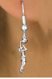 <br>     WHOLESALE SPORT CHARM EARRINGS <bR>                 EXCLUSIVELY OURS!! <BR>            AN ALLAN ROBIN DESIGN!! <BR>      CADMIUM, LEAD & NICKEL FREE!! <BR>    W1558SE - DETAILED SILVER TONE LADY <Br>BASKETBALL DUNK CHARM EARRINGS <BR>          FROM $3.65 TO $8.40 �2014