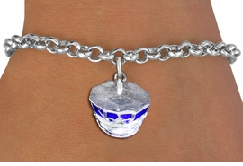<br> WHOLESALE FASHION CHARM BRACELET <bR>                    EXCLUSIVELY OURS!!<BR>               AN ALLAN ROBIN DESIGN!!<BR>      CLICK HERE TO SEE 1000+ EXCITING<BR>            CHANGES THAT YOU CAN MAKE!<BR>         CADMIUM, LEAD & NICKEL FREE!!<BR> W1568SB - DETAILED 3D SILVER TONE AND <Br>BLUE FILL POLICE CAP CHARM & BRACELET <BR>             FROM $4.50 TO $8.35 �2014
