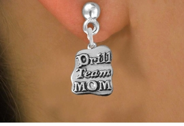 "<br>     WHOLESALE DANCE CHARM EARRINGS <bR>                 EXCLUSIVELY OURS!! <BR>            AN ALLAN ROBIN DESIGN!! <BR>      CADMIUM, LEAD & NICKEL FREE!! <BR>    W1570SE - DETAILED SILVER TONE <Br> ""DRILL TEAM MOM"" CHARM EARRINGS <BR>          FROM $3.65 TO $8.40 �2014"