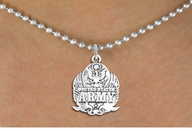 <br>WHOLESALE ARMED FORCES FASHION JEWELRY <bR>                   EXCLUSIVELY OURS!! <BR>         AN ALLAN ROBIN DESIGN!! <BR>   CLICK HERE TO SEE 1000+ EXCITING <BR>      CHANGES THAT YOU CAN MAKE! <BR>        CADMIUM, LEAD & NICKEL FREE!! <BR>  W1576SN - DETAILED 3D SILVER TONE <BR>U.S. ARMY INSIGNIA CHARM & NECKLACE <BR>             FROM $4.85 TO $8.30 �2014