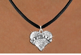 """<BR>     WHOLESALE FASHION HEART JEWELRY <bR>                   EXCLUSIVELY OURS!! <Br>              AN ALLAN ROBIN DESIGN!! <BR>     CLICK HERE TO SEE 1600+ EXCITING <BR>           CHANGES THAT YOU CAN MAKE! <BR>        LEAD, NICKEL & CADMIUM FREE!! <BR>   W1582SN - ANTIQUED SILVER TONE AND <BR>CLEAR CRYSTAL """"SOFTBALL"""" HEART CHARM <BR>   NECKLACE FROM $5.40 TO $9.85 �2014<BR>PICTURED ABOVE  """"BLACK SUEDE NECKLACE"""""""